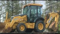 Backhoe services. Excavating, sight prep and landscaping.