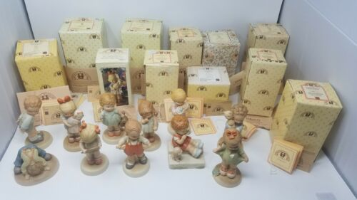 Enesco Memories Of Yesterday Figurine Lot of 11 Complete With Boxes + Paperwork