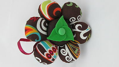 Dritz  Flower Pin Cushion - Brown Multi Colored