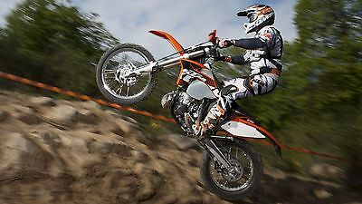 "MOTOCROSS DIRT BIKE JUMP SPORT PHOTO ART PRINT POSTER 24""x13"" 048"