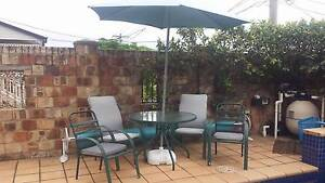 Outdoor 4 piece table setting with umbrella Bardon Brisbane North West Preview