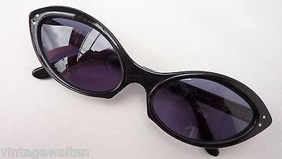 Beausoleil Sunglasses Black 80s Vintage New Extrem Cateyes High-Quality Size XL