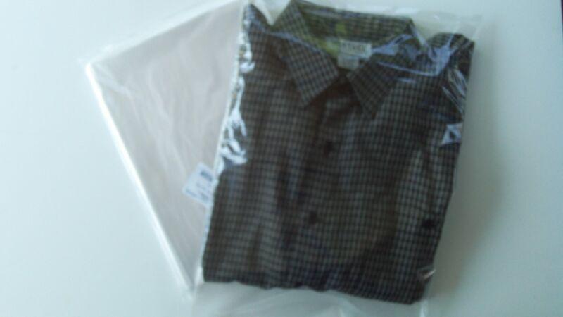 100 Clear 12x18 Poly Plastic Bags Flat Open Top 1 Mil Hoodies, Xl Shirts ,pants