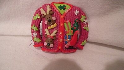 CHRISMTAS ORNAMENT UGLY SWEATER, GIVE TO HOSTESS OF PARTY OR GIVE TO WINNER