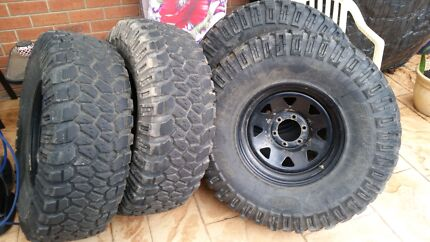 37 inch mud tyres muddy pro comp wherls 33 35  Epping Whittlesea Area Preview
