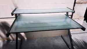 2 tier glass office desk metal frame Mosman Mosman Area Preview