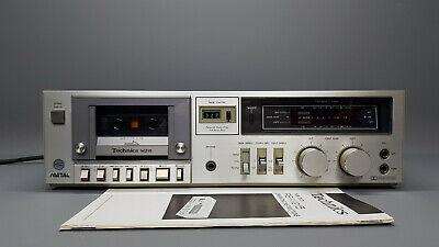 Technics RS M215 Cassette Tape Deck Hi-Fi Separate Silver Vintage 1980s Japan