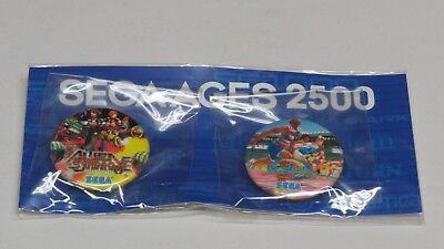 Sega Ages 2500 Alien Syndrome Badge + Decathlete Badges Sega Direct *...