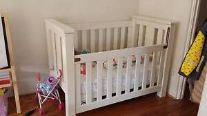 CUDDLES 'N' MUM WOODEN COT + MATTRESS Edgecliff Eastern Suburbs Preview