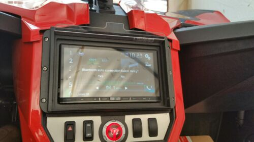 Slingshot Polaris Waterproof Marine Dash Kit  Radio Cover for Double Din Stereo