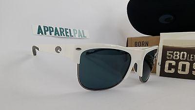 cf7932a5fdf1c New Costa Del Mar Pawleys Polarized Sunglasses 580P White Grey Fishing
