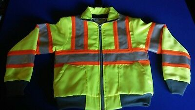 Safetyline ANSI 107-2004 class 2 level 2 3M reflective jacket high vis