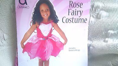 Mädchen Rose Fairy  Kostüm 4-6 jahre Neu ovp Günstig