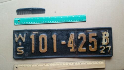 License Plate, Wisconsin, 1927, 101 - 425 B