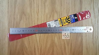 Shinwa 13013 300mm Scale Stainless Steel Ruler JQA1 Pocket Rule
