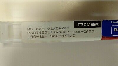 New Omega 12 Coated Type-k Thermocouple Cass-18g-12 For Corrosive Materials