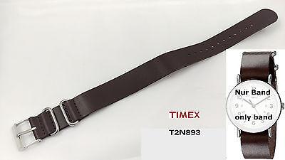 Timex Bracelet de rechange pour T2N893 - en cuir - Weekender modèles 20mm -