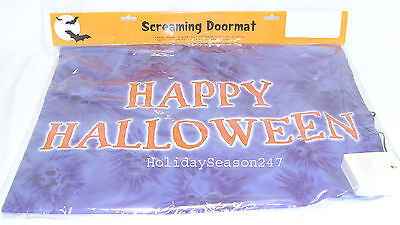 Happy Halloween Spooky Sounds (Happy Halloween Spooky Screaming Doormat Prop Makes Scary Sounds When Stepped)