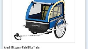 Portable bicycle trailer