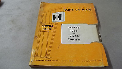 Parts Catalog For International Harvester 1256 And 21256 Tractors