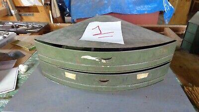 Vintage Industrial 2 Drawer Metal Corner Hardware Parts Cabinet Bin 1