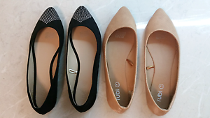 Ladies size 9 flats shoes x 2 - $10 for both pair Raceview Ipswich City Preview