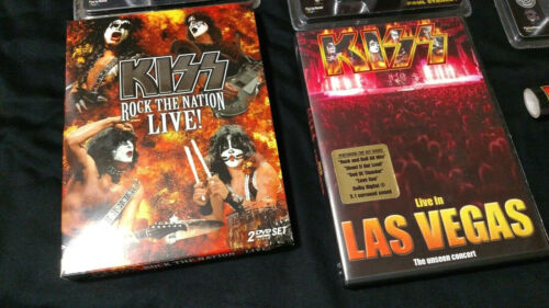 Ace Frehley KISS Lot Dvd Nation Vegas Concert Gene Simmons Aucoin Vintage Singer
