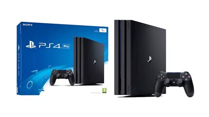 Sony PlayStation 4 Pro PS4 Pro 1TB and three top games