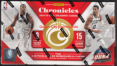 2017/18 Panini Chronicles Basketball Factory Sealed Hobby Box
