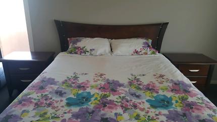 Queen size 4 piece solid wood australian made bedroom suite