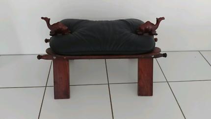 Vintage camel foot stool