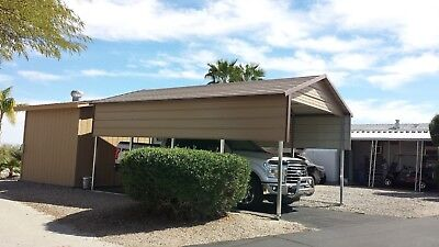 12x21x7 Carport - Garage Rv Covers Pre-fab Barnssteel Building Storage