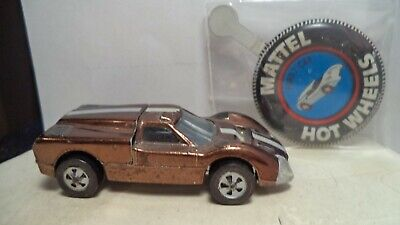Vintage Hot Wheels Red Lines USA 1968 Ford J-Car [Brown] w/button