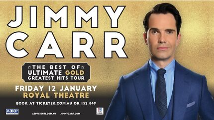 Wanted - Jimmy Carr Tickets - 12th Jan - Canberra