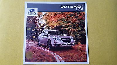 Subaru Outback 2.0D SX 6MT Lineartronic sales brochure 2014 MINT AWD 4WD 4x4
