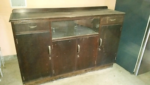 Antique vintage silky oak buffet hutch sideboard Camp Mountain Brisbane North West Preview