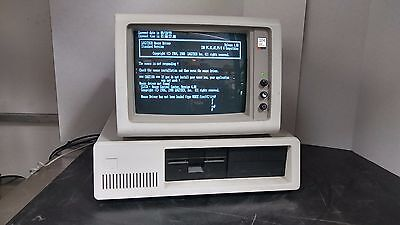 Rare Ibm 5150 Vintage Personal Computer Pc With 5153 Crt Monitor   Power Tested