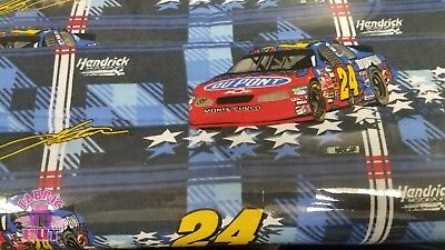 159005694  Jeff Gordon 24 Dupont Nascar Cotton Flannel Fabric By The Yard