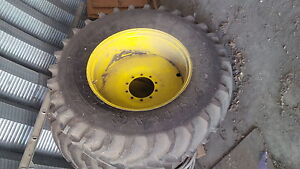 20.8 R38 Goodyear on rims with extensions for JD Sprayer