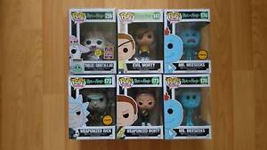 Funko Animation POP! Vinyls Rick And Morty - Various RARE Boxes