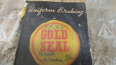 Vintage Gold Seal 2 axle Brake Lining Set for 1939 Ford Mercury Passenger
