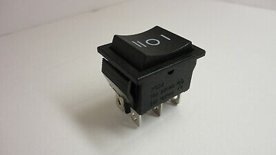 Kcd4 16a 250vac 20a 125vac Rocker Switch Button Snap In Plug 6 Pins 3 Positions