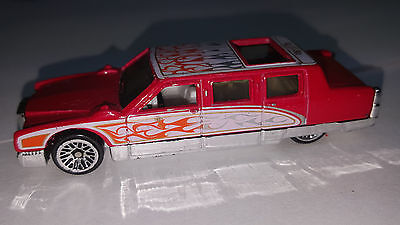 2002 Hot Wheels Limozeen by Larry Wood - from Birthday Cake 5-Pack - Red w/flame](Hot Wheels Birthday Cake)