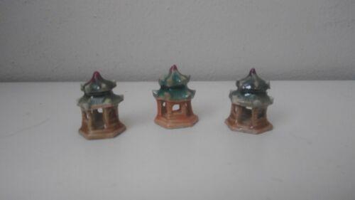 Mudmans, Miniature mudman figurine,  3 Patios for bonsai (P T)