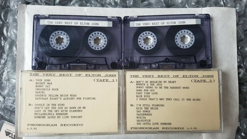 Elton John - The Very Best Of Ultra Rare UK 2 x Promo Cassette Set