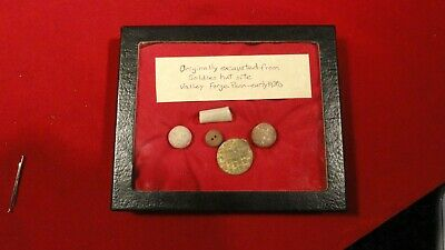 RARE REVOLUTIONARY WAR ERA - GROUP OF RELICS EXCAVATED VALLEY FORGE SITE - 1930S