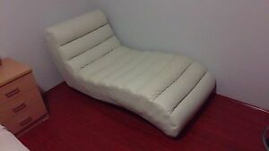 Freedom furniture white leather chaise Belfield Canterbury Area Preview