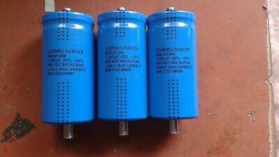 Lot Of 3 Cornell Dubilier 550ce1306 1200mfd 500vdc Capacitors