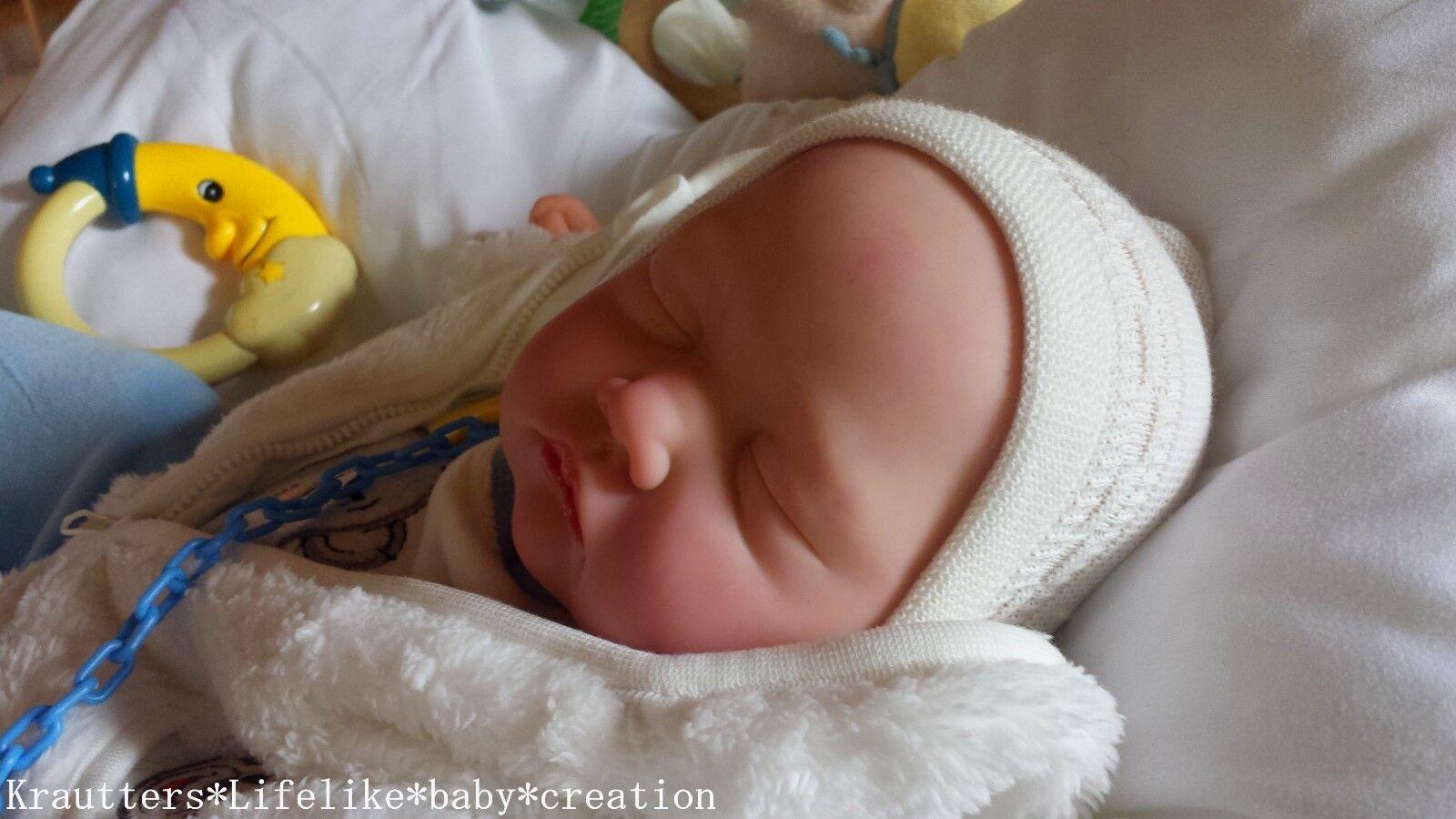 ✨♥Reborn Reallife Baby wie echt ! BS v. U.L Krautter Babypuppe Künstlerpuppe♥✨