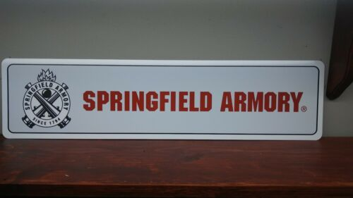 "SPRINGFIELD ARMORY Metal Sign  6"" x 24"""